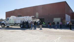 Cemen Tech demo during Van Keppel training.