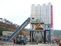 A traditional concrete batch plant.