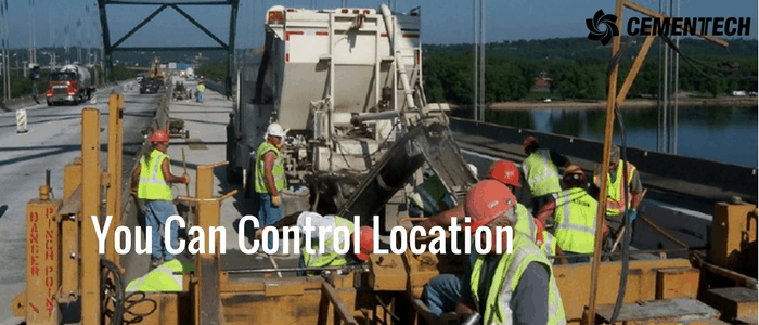 Control Your Location and pour above ground, below ground, remote job sites.
