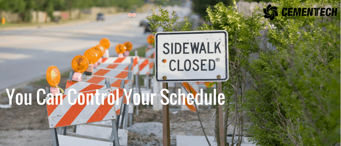 Control Your Schedule for producing concrete