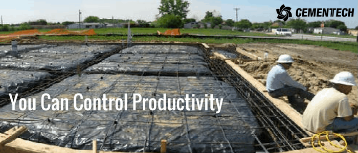 Control Your Productivity and pour concrete when and where you want it