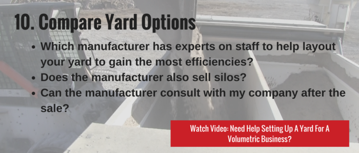 Compare Yard Options