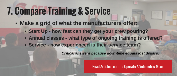 Compare Training and Service