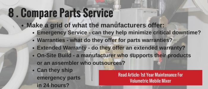 Compare Parts Service