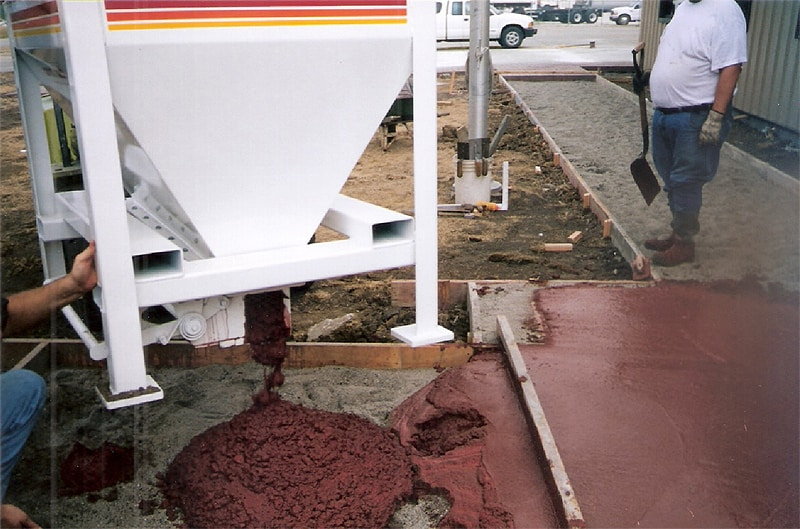 Decorative Concrete Colored Red