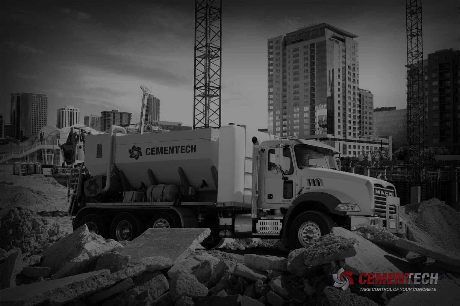 Cementech Truck at a construction site
