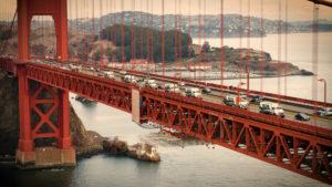 Volumetric concrete mixers Golden Gate Bridge