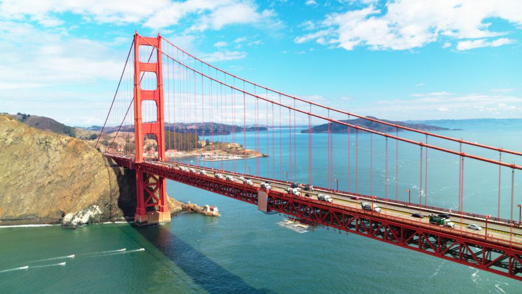 Mack mobile mixer Golden Gate Bridge