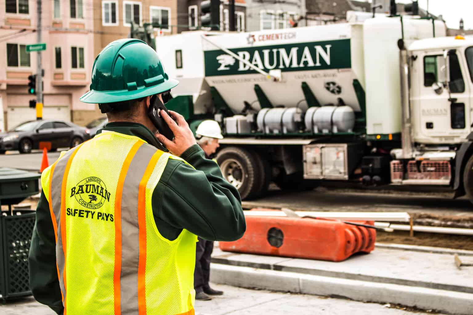 Bauman Worker Spencer at Work Site