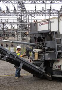 Automated Volumetric Concrete Mixer Operation