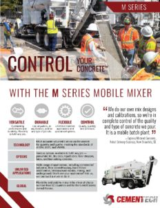 Cemen Tech M Series Literature Cover